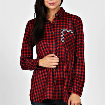 Contrast Flannel