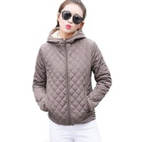 Parkas basic jackets Female Women Winter velvet lamb hooded Coats Cotton  Winter Jacket Womens Outwear coat
