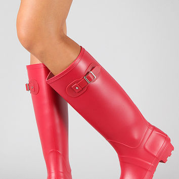 Bamboo Round Toe Knee High Rain Boot
