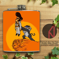 The King Elvis 6oz Hip Flask