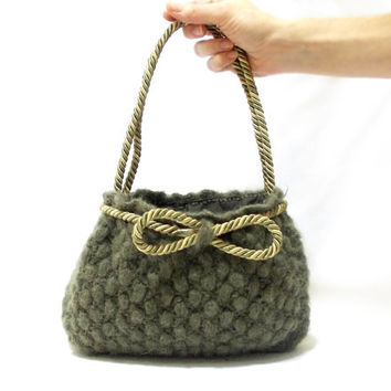 Mini bag, Crochet tote bag, Purse, Green, Free Shipping Ready to ship, Handmade crochet handbag, Unique handbag, Useful bag, Pouch, Feminine