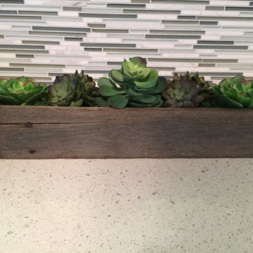 Weathered Wood Decor - Reclaimed Wood Boxes - Repurposed Wood - Planter Box