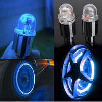 2PCS Firefly Spoke LEDs Wheel Valve Stem Cap Tire Motion Neon Light Lamp For Bike Bicycle Car Motorcycle Accessories