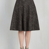20s Mid-length Full In the Chic of the Moment Skirt