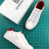 Givenchy Reverse Letters Low Top Sneaker White Red - Best Online Sale