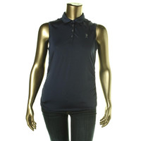 U.S. Polo Assn. Womens Ruched Lightweight Polo
