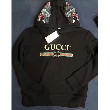 ''Gucci'' Women On the back The Embroidery Hot Hoodie  Sweater