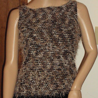 A Byer / Cami / Tank Top / Sleeveless Mohair / Vintage Sweater / Size Large / 1990s
