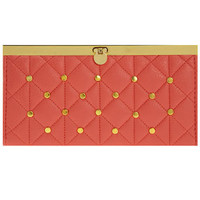 Coral quilted stud bar purse - Bags & Wallets  - Accessories  - Dorothy Perkins United States