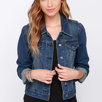 Villanova Distressed Cropped Denim Jacket