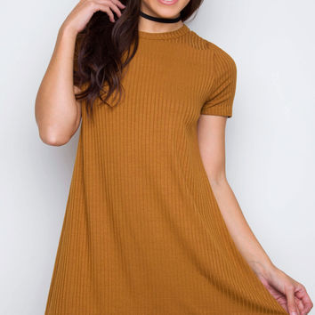 Rory Tunic Dress - Mustard