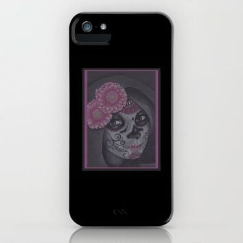 Dia De Los Muertos - Daisy iPhone Case by drawingsbylam