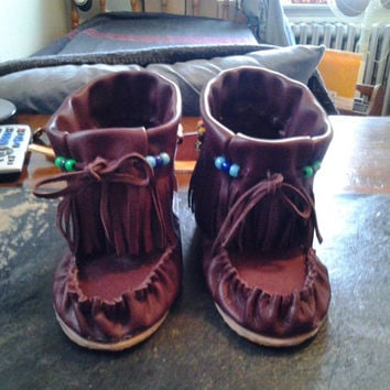 Outdoor High Top Moccasins, FREE SHIPPING. Felt lined or unlined