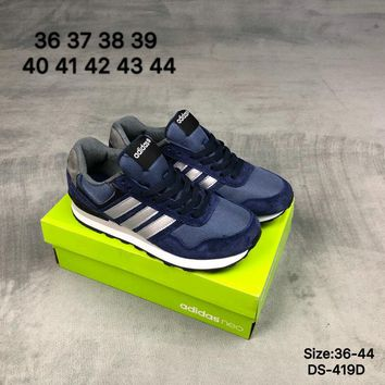 Adidas NEO 10 K Men and Women Blue Fashion Outdoor Sports Running Shoes