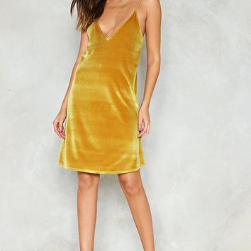 Give 'Em the Slip Velvet Dress