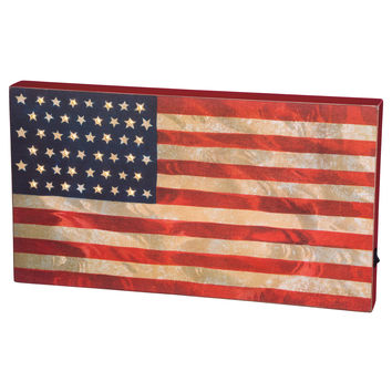 USA Flag Illuminated Box Sign