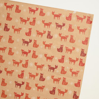 Woodland Foxes Wrapping Paper - World Market