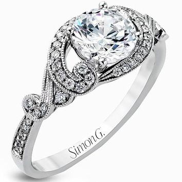 Simon G. Filigree Antique Style Diamond Engagement Ring 0dedf3701