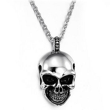 Skull Titanium Stainless Steel Necklace