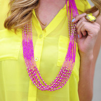 Bloom For Me Necklace: Pink | Hope's