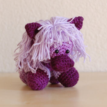 Amigurumi Purple Pony by ZayaLosya on Etsy