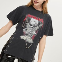 Metallica Chain Side T-Shirt by And Finally - New In Fashion - New In