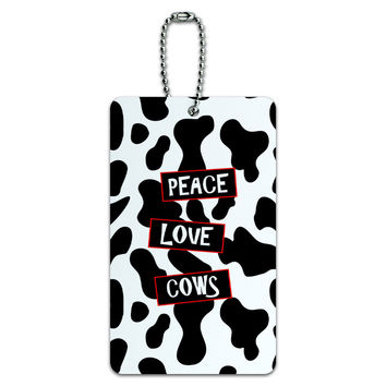 Peace Love Cows ID Card Luggage Tag
