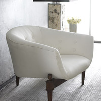 Global Views - White Scoop Chair - Horchow