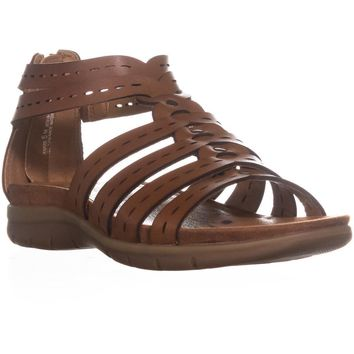 BareTraps Kaiser Strappy Flat Sandals, Brush Brown, 6.5 US