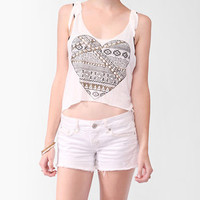 Studded Geo Heart Trapeze Tank | FOREVER 21 - 2000048171
