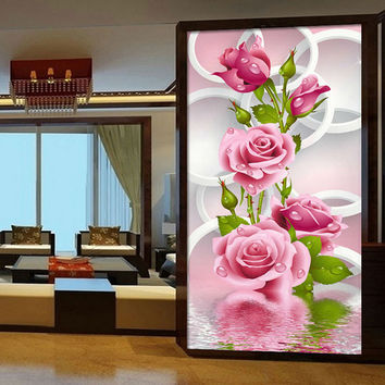 Pink Rose Diamond Embroidery Flower 5D Painting