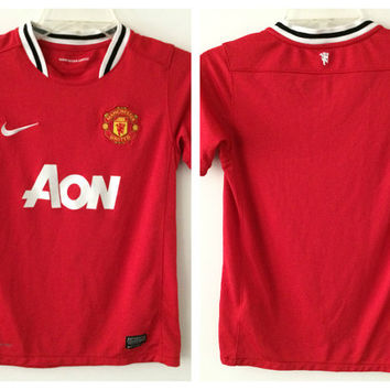 Sale!! Nike Manchester United Home Soccer Jersey Mufc Football Shirt Size Boys Medium Free shipping within the USA
