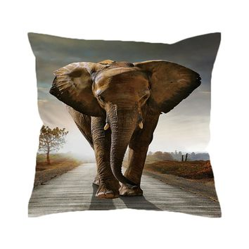 African Elephant Pillow Cover