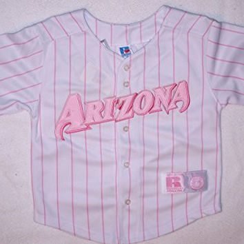ARIZONA DIAMONDBACKS REPLICA WHITE/PINK YOUTH GIRLS TEAM BASEBALL JERSEY YOUTH Size: 5/6