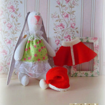 Sale! Free shipping worldwide Handmade Tilda bunny Tilda rabbit Tilda doll Handmade bunny Handmade toy Home decor Gift for her