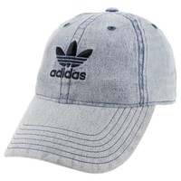 adidas Men's Originals Relaxed Strap Back Cap Hat Washed Blue Denim Trefoil