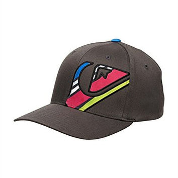 Quiksilver Haydis Flexfit Baseball Hat Gunsmoke, One Size