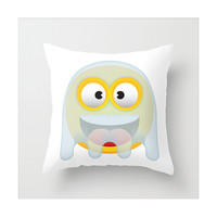 "Kids throw pillow ""Ghosty the little ghost "", Pillow cover, Cushion cover, Children bedding, children cushions by Les Petits Buttons"