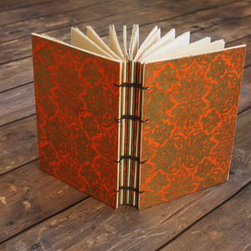 Guestbook, Coptic Bound Journal, Anniversary Gift, Writing Journal, Fall Hostess gift, Engagement Gifts