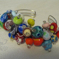 Glass Bead Bracelet Item 1 by AJGlassWorks on Etsy
