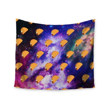 "Juan Paolo ""Taco Galaxy"" Pink Purple Wall Tapestry"