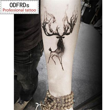 Tattoo Sticker  waterproof temporary  Horned deer