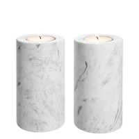 White Marble Tealight Holders 2 | Eichholtz Tobor M