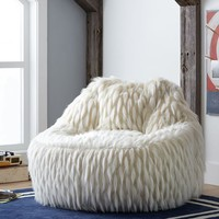 Winter Fox Faux-Fur Leanback Lounger