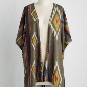 Boho Mid-length Scene It All Before Cardigan