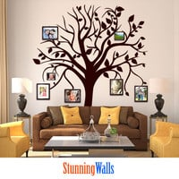Family Tree Wall Decal - Photo Frame Family Tree Decal Stickers - Tree Decor - Wall Art-
