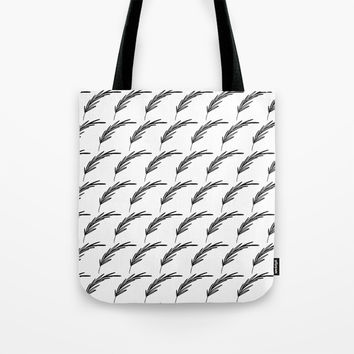 Black+White Foliage Tote Bag by Inspire Your Art