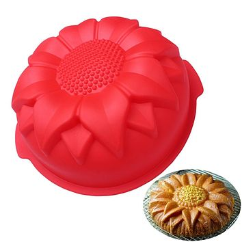 DIY Silicone Cake Baking Mold Big Sunflower Silicone Cake Mold Mold Wedding Decoration