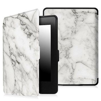 Fintie SmartShell Case for Kindle Paperwhite - The Thinnest and Lightest PU Leather Cover Auto Sleep / Wake for All-New Amazon Kindle Paperwhite (Fits All 2012, 2013, 2015 and 2016 Versions), Marble