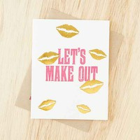 Wiley Valentine Let's Make Out Card- White One